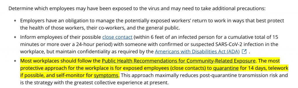 แนวทาง CDC ให้ผู้เสี่ยงกักตัว 14 วัน